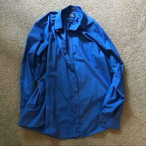 Staffers Blue Dress Shirt Size 17 1/2 36/37